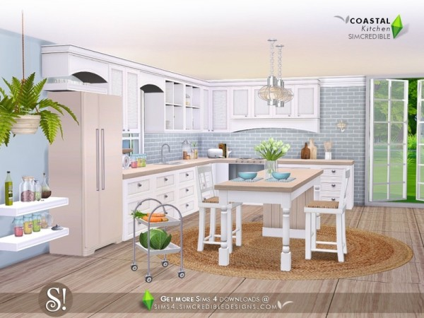 The Sims Resource Coastal Kitchen By Simcredible Sims 4