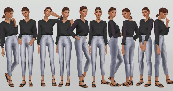Simsworkshop: Simple Model Poses V.8 by catsblob