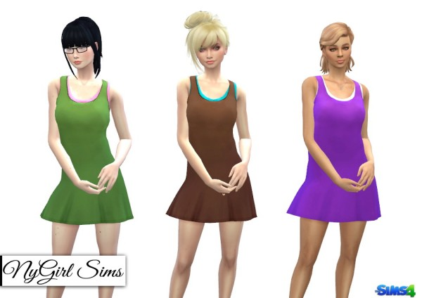NY Girl Sims: Layered Athletic Tank Dress