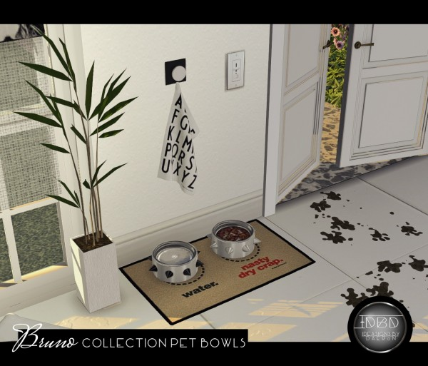 Sims 4 Designs: Bruno Collection Pet Bowls