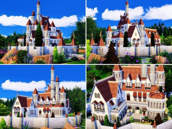 The Sims Resource: Beauty and The Beast Castle by MychQQQ