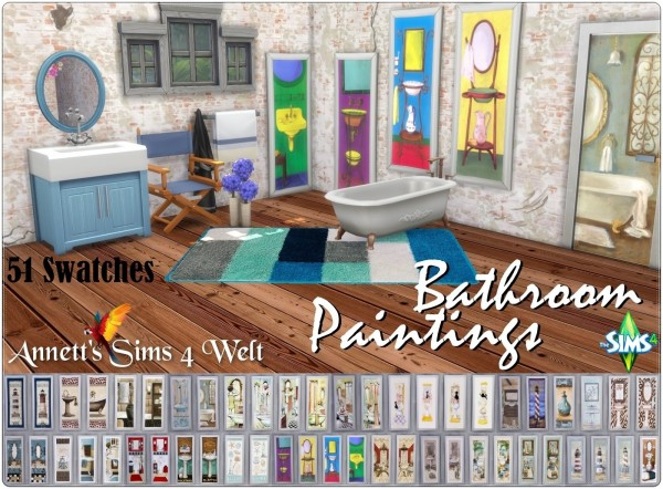 Annett`s Sims 4 Welt: Bathroom paintings