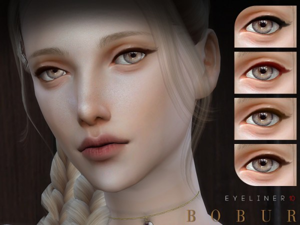 The Sims Resource: Eyeliner 10 by Bobur3