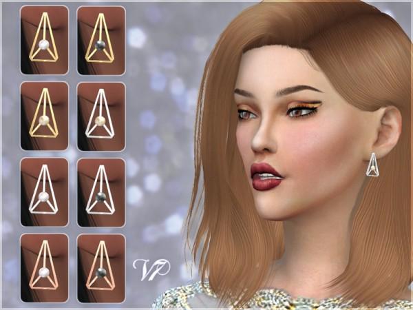 Giulietta Sims: Triangle Pearl Earrings V7