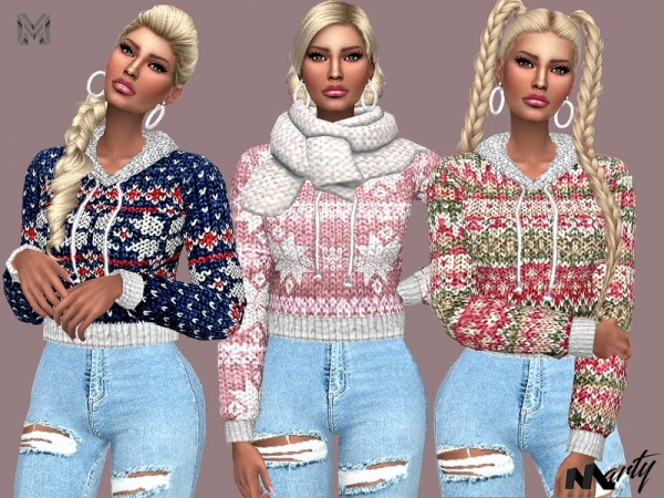 The Sims Resource: Wool Winter Sweaters by MartyP