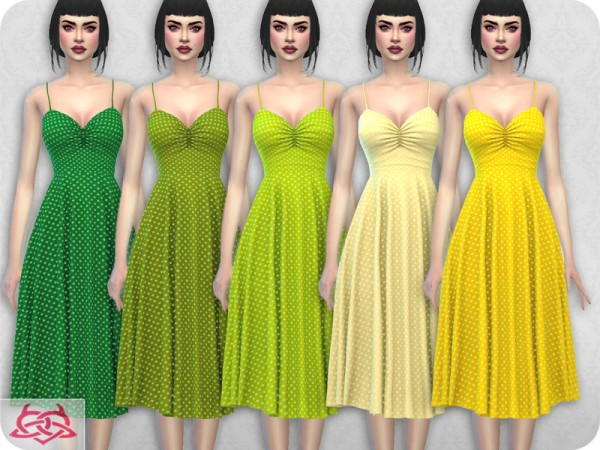 The Sims Resource: Claudia dress recolor 11 by Colores Urbanos