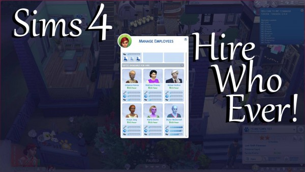 Mod The Sims: Vet Hire Who Ever! by PolarBearSims