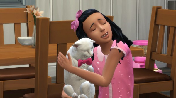 Mod The Sims: Hair Bow Freedom Cats & Dogs Child Hair by Peripeteia