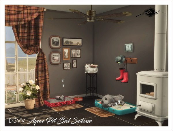 Sims 4 Designs: Aycae Pet Bed Suitcase