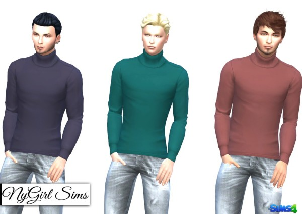 Ny girl sims untucked turtleneck sims 4 downloads for Best shirts to wear untucked