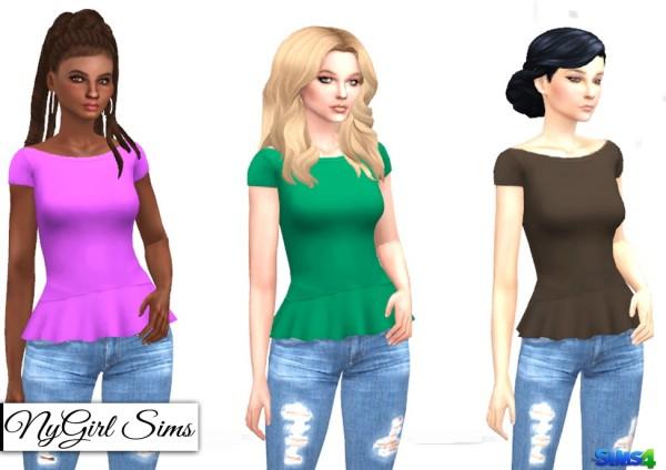 NY Girl Sims: Scoop Neck Flare Tee