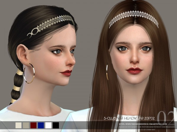The Sims Resource: Headwear F 201702 by S Club