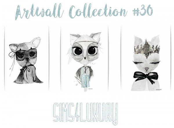 Sims4Luxury: Artwall Collection 30