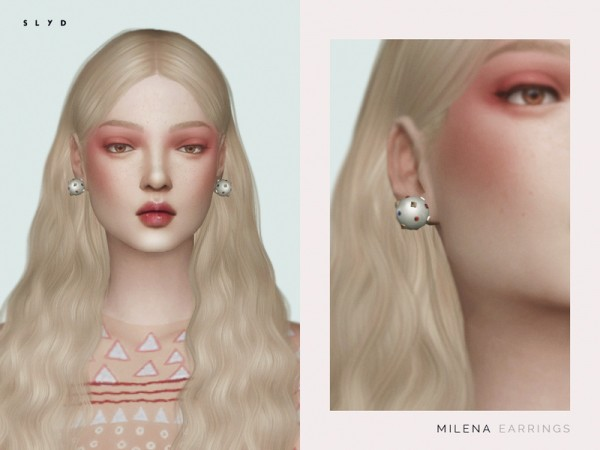 The Sims Resource: Milena Earrings by SLYD