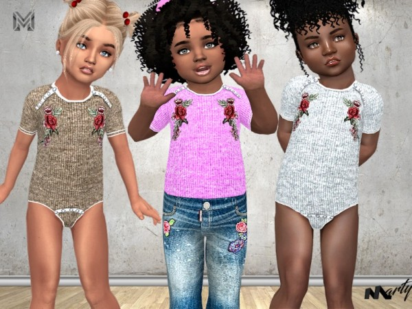 The Sims Resource: Toddler Fashion Bodysuit N3 by MartyP