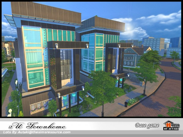 The Sims Resource: 2U Town home by Autaki