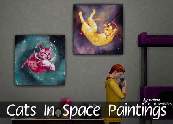 Tukete: Cats In Space Paintings