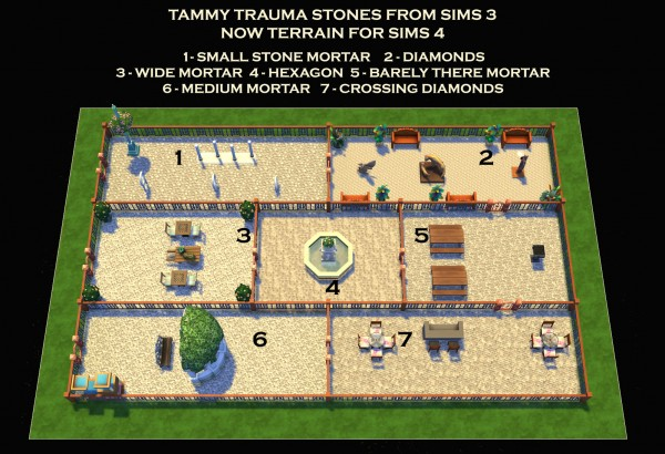 Mod The Sims: 7 Stone Terrains by Simmiller