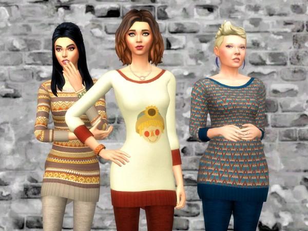 Strenee sims: Autumn Sweaters and Leggings