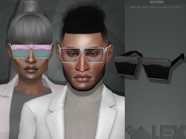 The Sims Resource: Edge glasses by Mr.Alex
