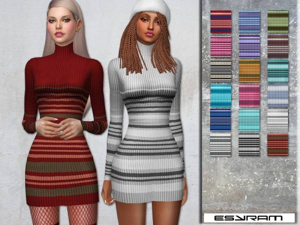 The Sims Resource: Roll Neck Dress by EsyraM