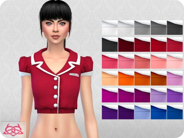 The Sims Resource: Waitress set by Colores Urbanos