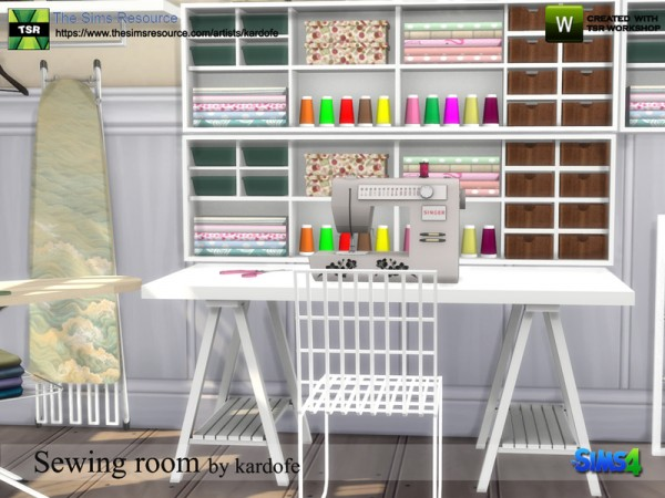 The Sims Resource: Sewing room by Kardofe