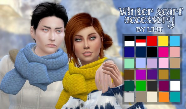 Simsworkshop: Winter scarf accessory by Lilit