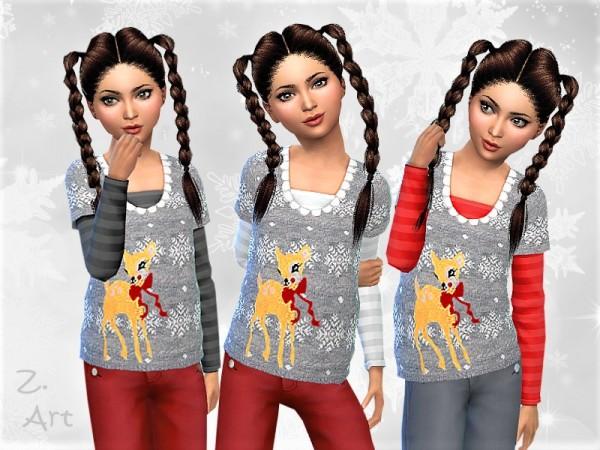 The Sims Resource: WinterkidZ. sweater 01 by Zuckerschnute20