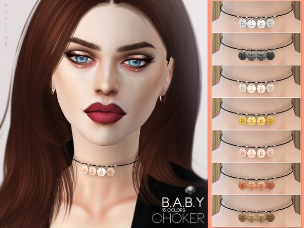The Sims Resource: B.A.B.Y Choker by Pralinesims