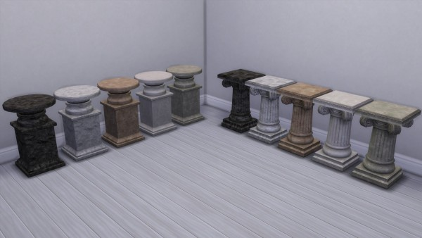 Mod The Sims: Pedestals converted by TheJim07