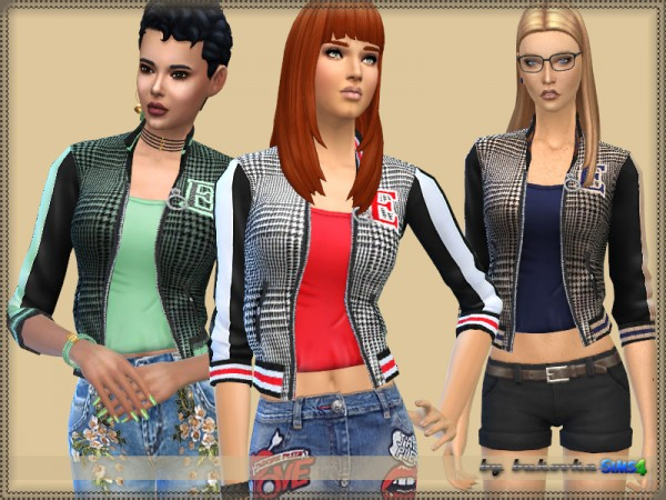 The Sims Resource: Bomber Jacket E by bukovka