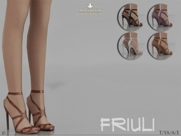 The Sims Resource: Madlen Friuli Shoes by MJ95