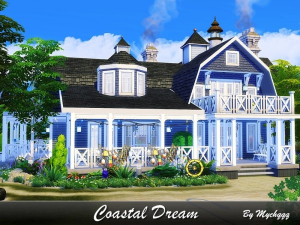 The Sims Resource: Coastal Dream house by MychQQQ