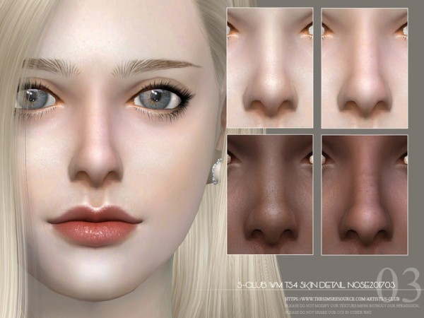 The Sims Resource: Skin Detail Nose201703 by S Club