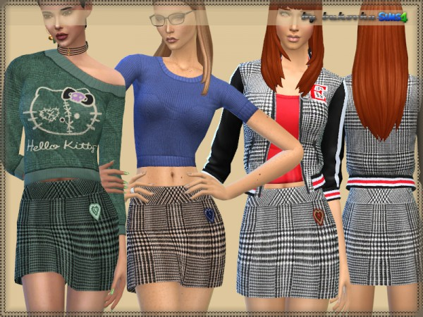 The Sims Resource: Skirt Plaid by bukovka
