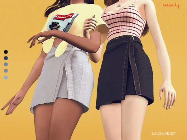 The Sims Resource: Laura Skirt by serenity cc