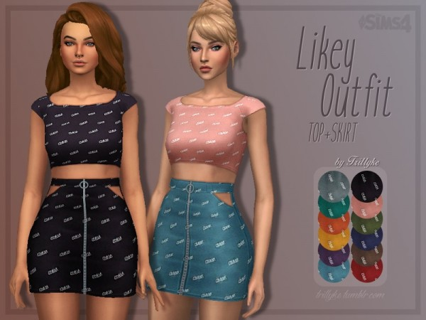 The Sims Resource: Likey Outfit by Trillyke