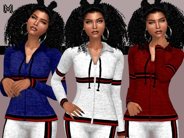 The Sims Resource: Trendy Velvet Stripes Jacket by MartyP
