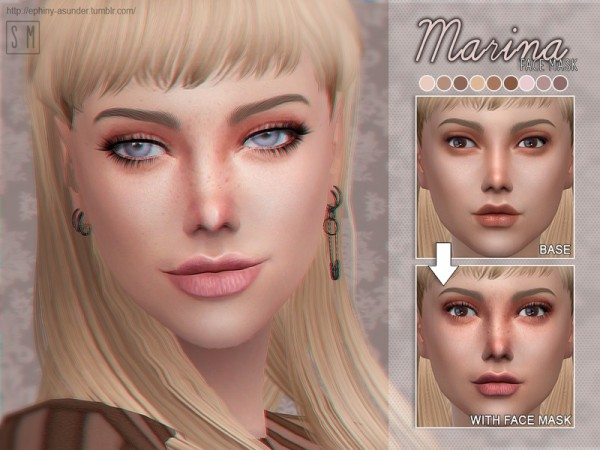 The Sims Resource: Marina    Face Mask by Screaming Mustard