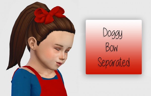 Simiracle: Doggy Bow Separated   Toddler Version