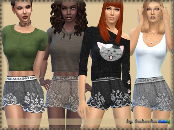 The Sims Resource: Short Lace by bukovka