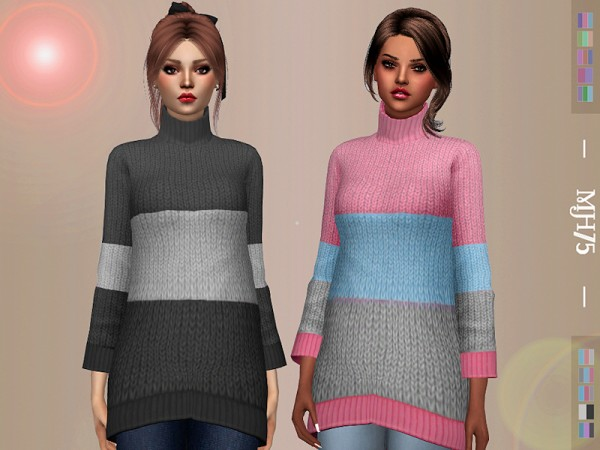 The Sims Resource: Oversized Sweater by Margeh 75