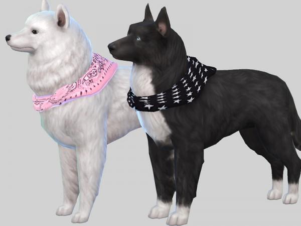 The Sims Resource: Large Dog Bandanas by Pinkzombiecupcakes