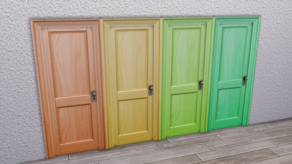 La Luna Rossa Sims: Simple Two Panel Door Colored