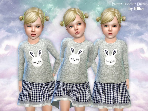 The Sims Resource: Bunny Toddler Dress by lillka