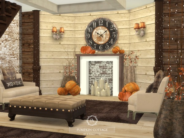 The Sims Resource: Pumpkin Cottage by Aquarhiene