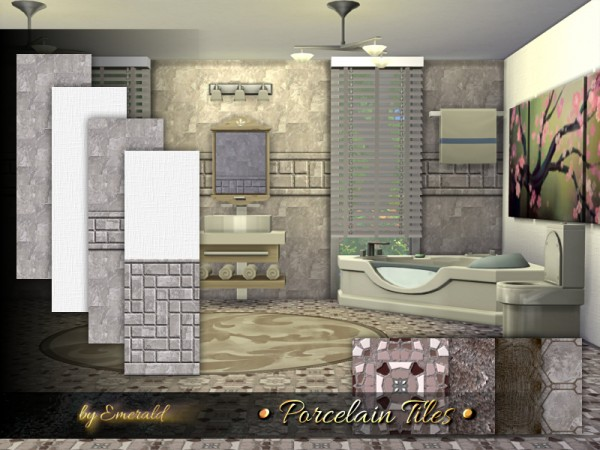 The Sims Resource: Porcelain Tiles by emerald