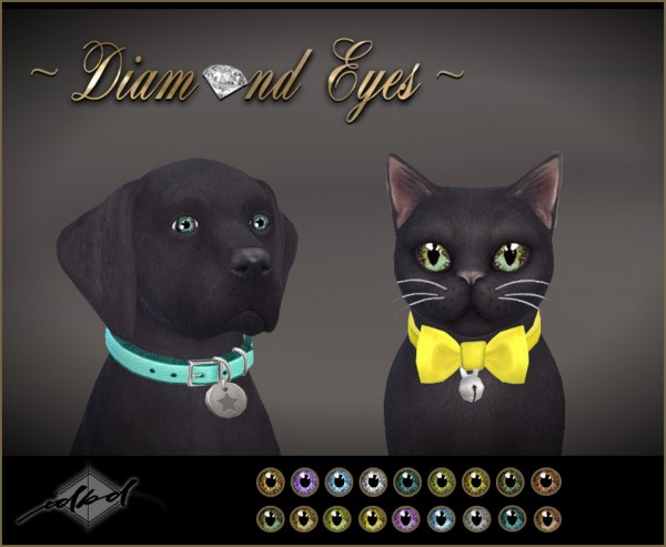 Sims 4 Designs: Diamond Eyes For Pets