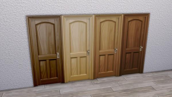 La Luna Rossa Sims: Wooden Three Panel Door